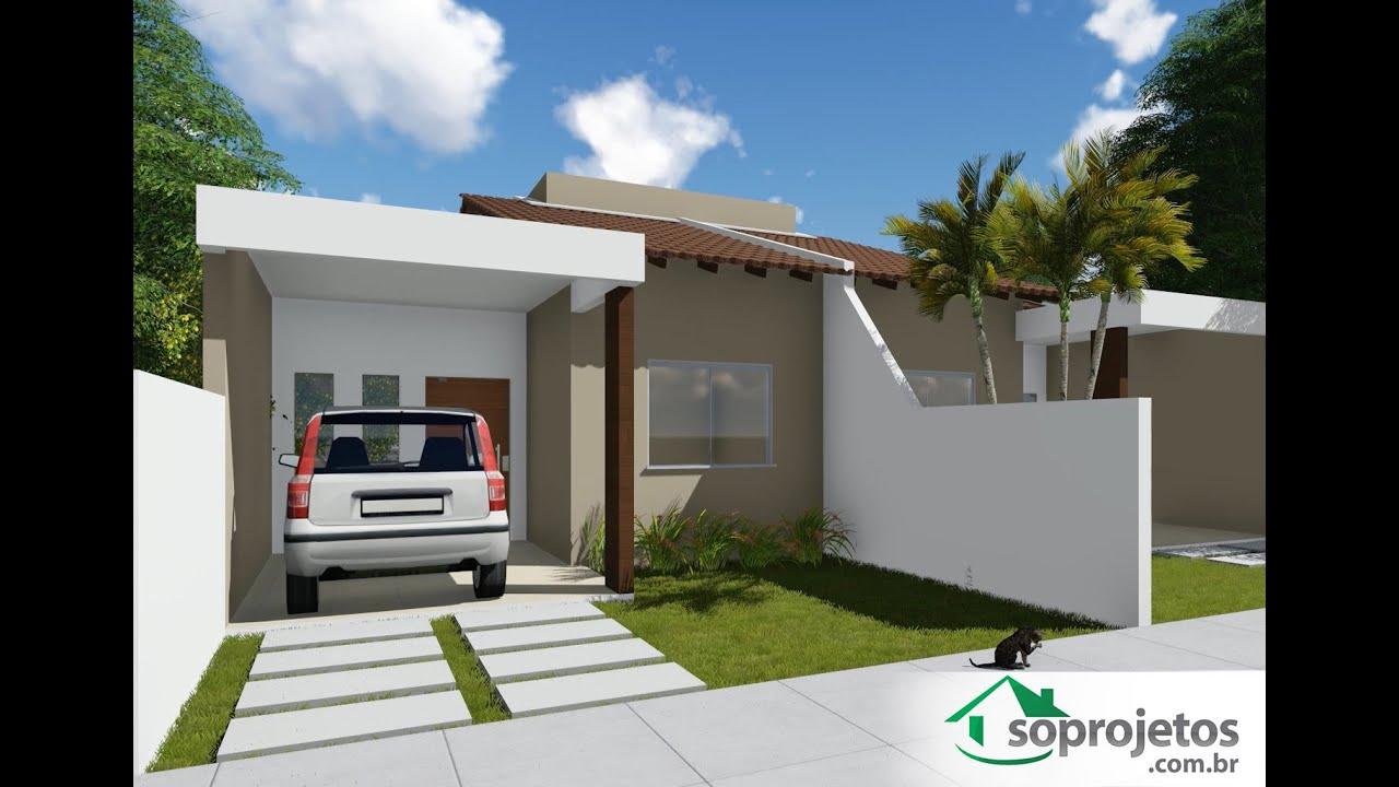 Projeto de Casa Térrea Geminada com 2 quartos Cód. 135   #356696 1475 1025