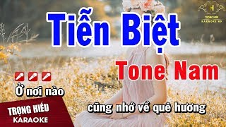 Karaoke Tiễn Biệt Tone Nam Nhạc Sống | Trọng Hiếu