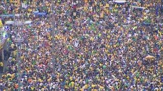 Manifestantes em várias cidades do Brasil protestaram contra a decisão do STF