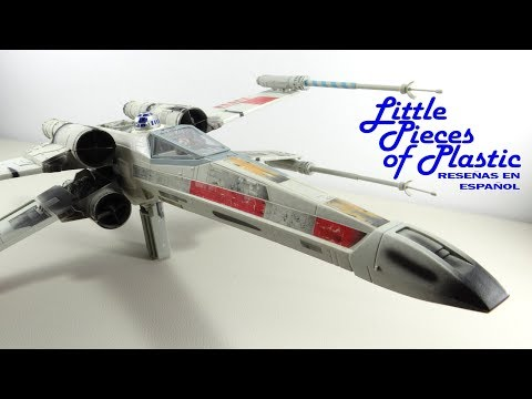 Electronic Power F/X Luke Skywalker's Red Five X-Wing Fighter Reseña Revisión Little Pieces Plastic