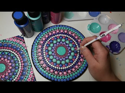 How To Paint Dot Mandalas #23 PASTELS Full Step by Step Tutorial