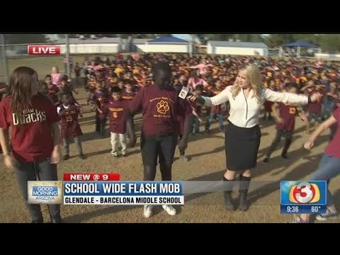 School-wide flash mob to connect fine arts