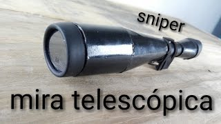 como hacer mira telescópica casera (con binoculares)(Home telescopic sight)