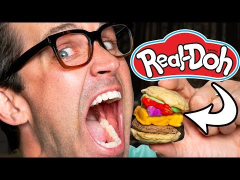 Making Real Food With Play-Doh Toys (REHEATED)