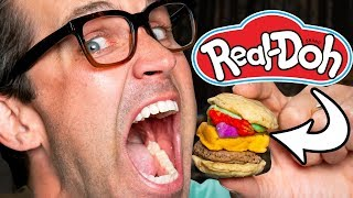 Making Real Food With Play-Doh Toys Taste Test Video