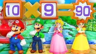 Super Mario Party - Minigames - Mario vs Luigi vs Peach vs Daisy