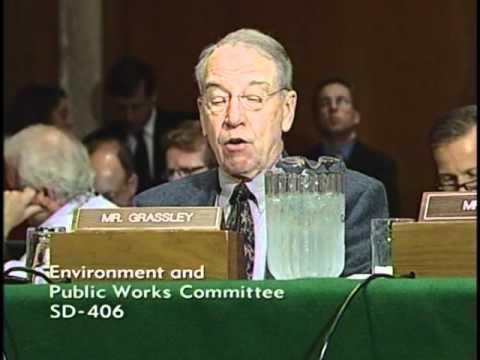 Grassley testifies at Senate EPW hearing on the 2011 floods