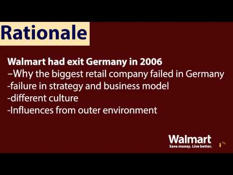 walmart failure in germany Wal-mart's attempt to apply the company's proven us success for- mula in an unmodified manner to the german market, however, turned out to be nothing short of a fiasco upon closer inspection, the circumstances of the company's failure to establish itself in germany give reason to believe that it pursued a fundamentally.
