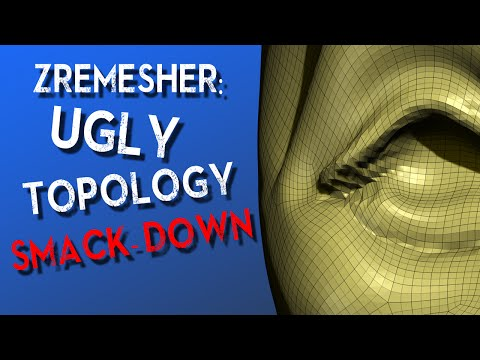 ZRemesher: Ugly Topology Smack-down