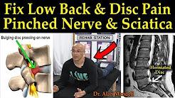 Fix Low Back & Disc Pain, Pinched Nerve & Sciatica - Dr Alan Mandell, D.C.