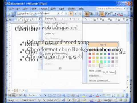 CACH LAM VIDEO bang windows movie maker (tt) IV vi du lam WEB bang WORD