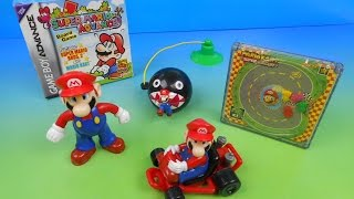 2002 NINTENDO SUPER MARIO WORLD SET OF 5 WENDY'S KIDS MEAL TOYS VIDEO REVIEW