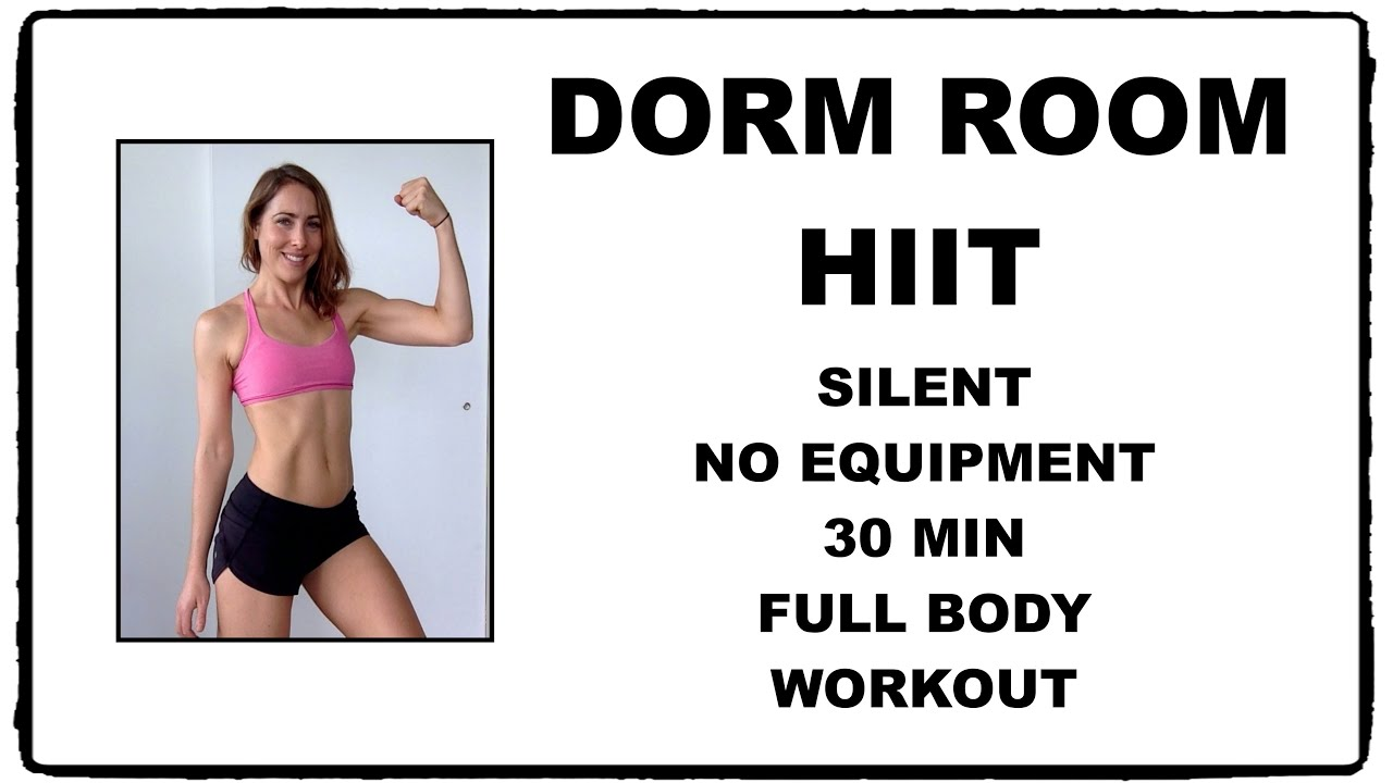 Lovely Dorm Room HIIT | Silent Full Body Workout   No Equipment   YouTube Part 12