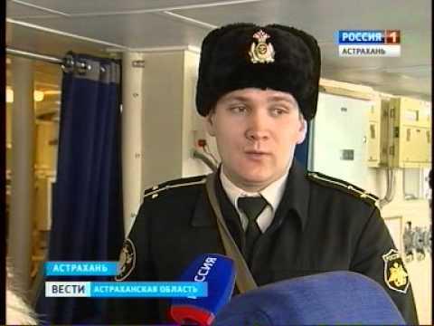 В Астрахани прошли учения моряков Каспийской флотилии.
