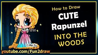 Easy Drawings - How to Draw Disney Princess - Rapunzel Into The Woods - Top Drawing Videos Fun2draw(Draw & COLOR at your own pace with Fun2draw APPs! Apple: https://itunes.apple.com/artist/mei-yu/id674269351?mt=8 Android: ..., 2014-12-22T16:00:06.000Z)