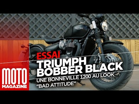 triumph bobber black bonneville 1200 essai moto magazine 2018 youtube. Black Bedroom Furniture Sets. Home Design Ideas