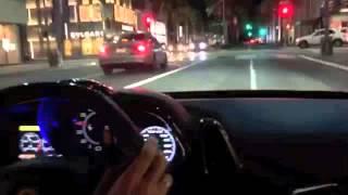 Ferrari 458 Italia night time run in Beverly Hills