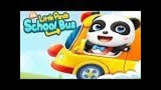 13Baby Panda's School Bus   Kids Learn And Play Fun Trip On School Bus  Baby Panda Animated Kids Vid