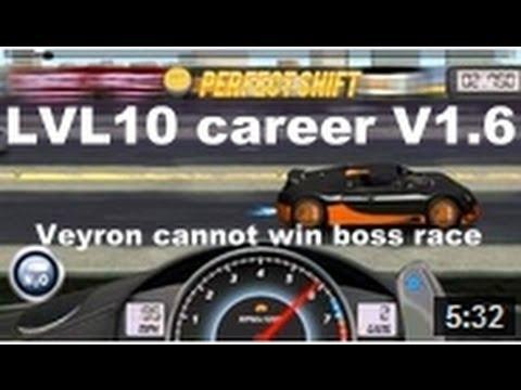 Drag Racing Level 10 Career Bugatti Veyron 16.4 SS Tune Setup V1.6 (CANNOT WIN BOSS RACE)