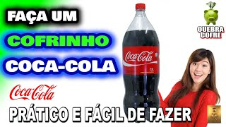 Como fazer um cofrinho Para Cédulas com uma garrafa de Coca Cola
