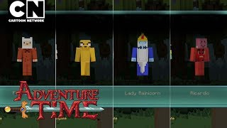CN Playin | Adventure Time Minecraft: Characters & Items! | Cartoon Network