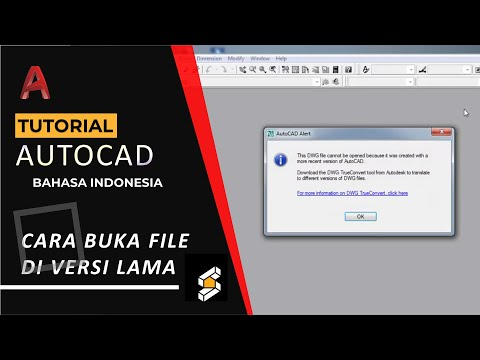 Autocad - cara membuka file dwg cad terbaru di autocad lama (open file dwg  autocad in old version)