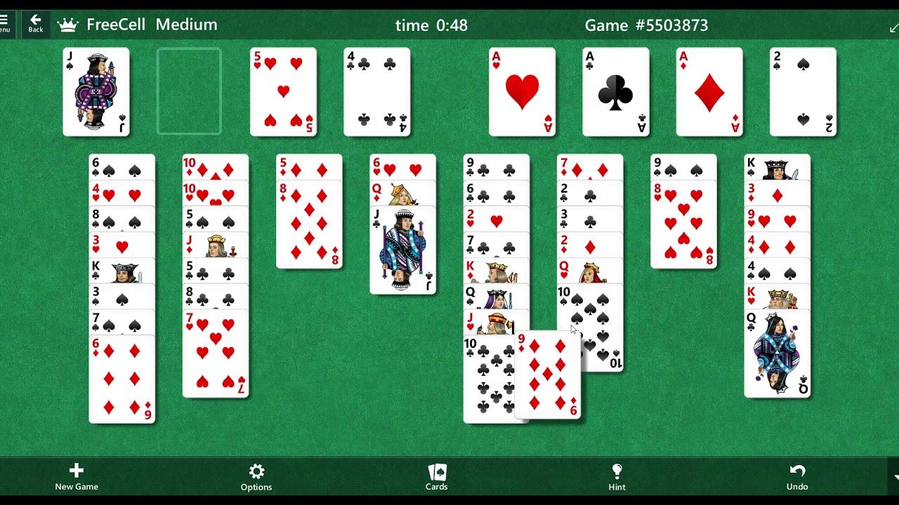#45 - FreeCell - Medium - Game id (# 5503873) - YouTube