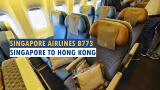 Singapore Airlines Economy Class | SQ866 Singapore to Hong Kong - Boeing 777-300