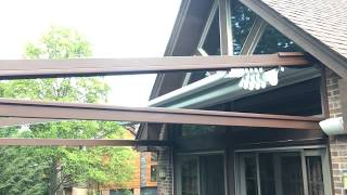 Residential retractable roof
