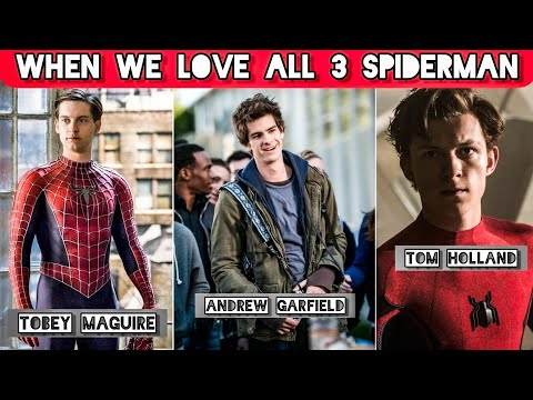 #SHORTS ❤️WHEN WE LOVE ALL THREE SPIDERMAN ❤️||Tom HOLLAND ||ANDREW GARFIELD|| TOBEY MAGUIRE