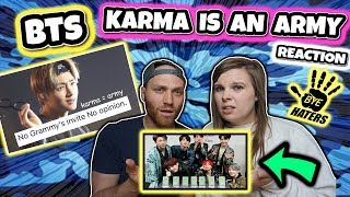 karma is an army BTS REACTION