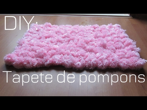 DIY:Como fazer um tapete de pompom