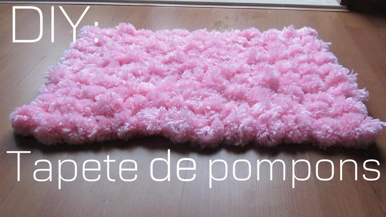 DIY Como fazer um tapete de pompom (FÁCIL) - YouTube e6ba5d2aa5f