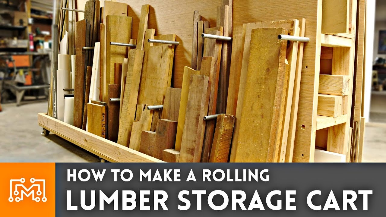 How To Make A Rolling Lumber Storage Cart Woodworking