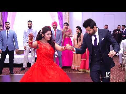 latest Brampton best performance punjabi wedding  reception bride & groom Vinay & Rajvir