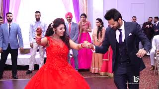 latest Brampton best performance punjabi wedding  reception bride & groom Vinay & Rajvir