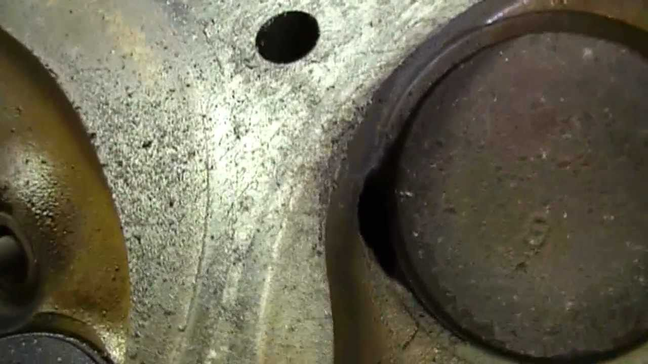 Signs of burnt out valves. Low compression in the cylinder. Replacement of valves