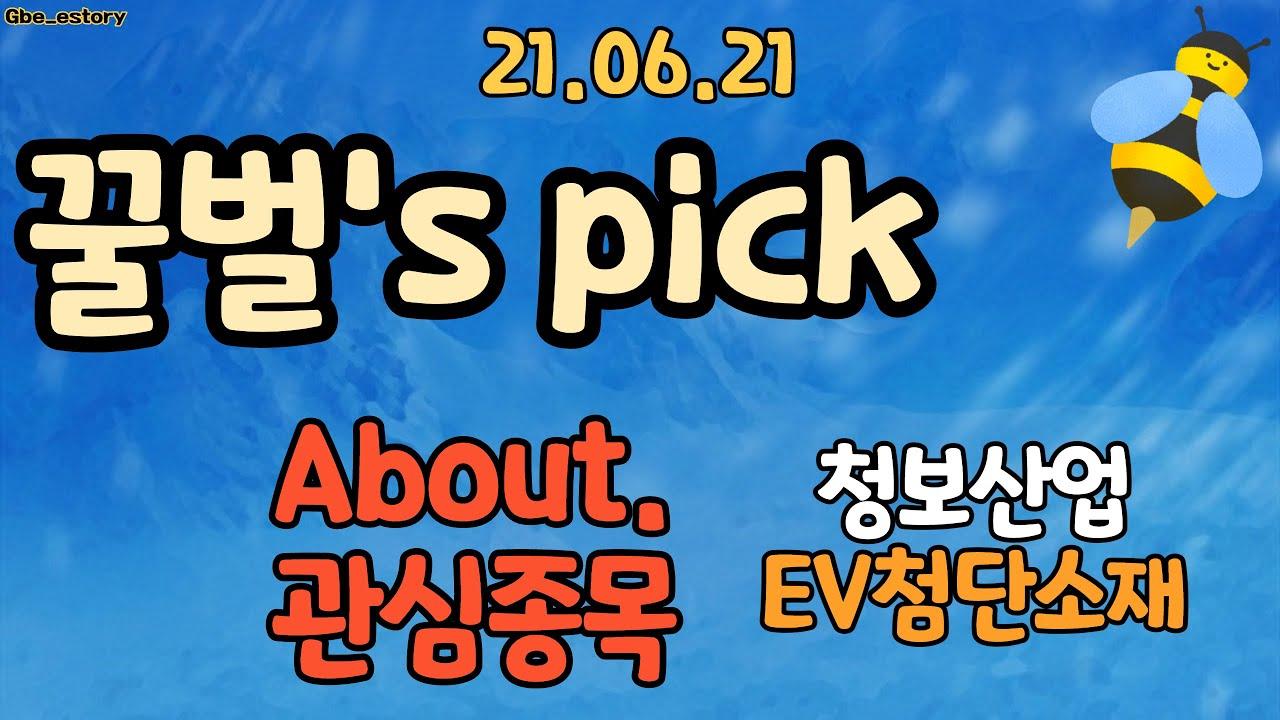 6월21일 꿀벌 관심종목 - 청보산업, 이브이첨단소재 - Korean Stock Story_honeybee