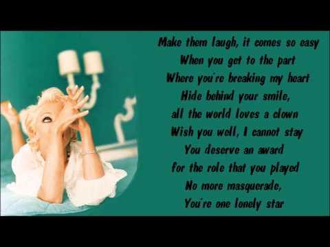 Madonna - Take a Bow Karaoke / Instrumental with lyrics on screen