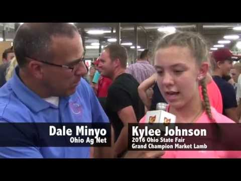 2016 Ohio State Fair Grand Champion Market Lamb — Kylee Johnson