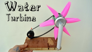 How to Make Water Turbine or Hydroelectric Power Generator at Home - cool science project - easy way