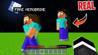 I Pretended To Be Herobrine In Minecraft But Then He Really Showed Up In Minecraft