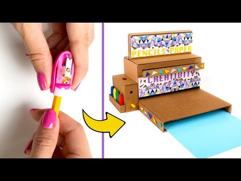Back To School Cardboard Project: Desktop Organizer With Pencil Sharpener