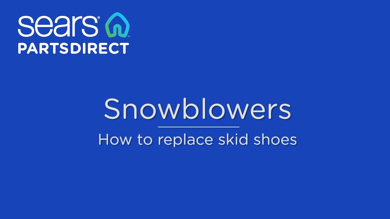How to replace snowblower skid shoes