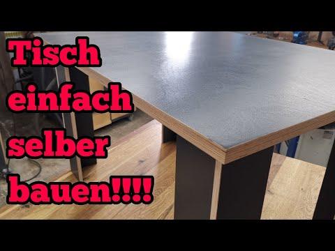 Tisch aus Multiplex selber bauen! So einfach geht es !!!
