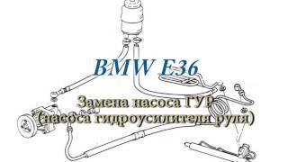 Замена насоса гидроусилителя руля (ГУР) BMW E36