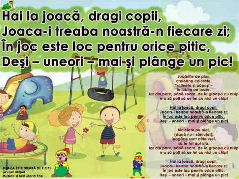 JOACA E TREABĂ DE COPII – Cantece pentru copii in limba romana