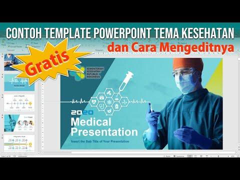 Contoh Template PowerPoint Gratis Tema Medical dan Cara Editnya