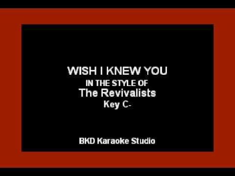 Wish I Knew You (In the Style of The Revivalists) Karaoke with Lyrics