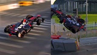 Huge Crash In Formula E39;s First Ever Race  Prost vs Heidfeld Accident